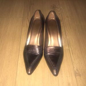 Donald J. Pliner Sz 7M Dark Bronze Loafers